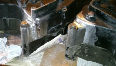 réparation carter moto - avant soudure